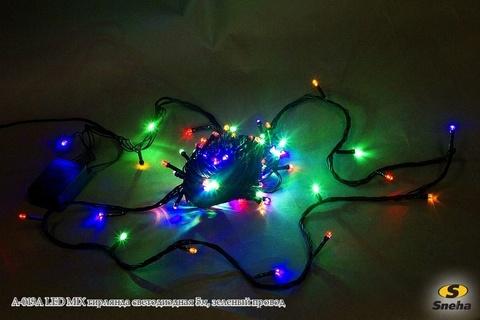 A-019A LED MIX гирлянда светодиодная 5м, зеленый провод