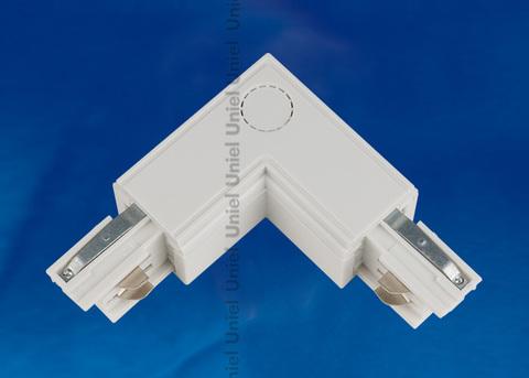 UBX-A21 WHITE 1 POLYBAG Соединитель для шинопроводов L-образный. Внешний. Трехфазный. Цвет — белый. Упаковка — полиэтиленовый пакет.
