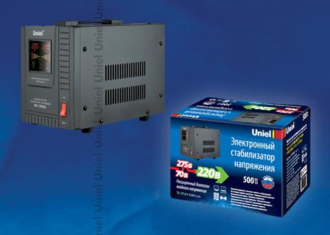 RS-1/500LS Стабилизатор напряжения «Uniel» релейный однофазный напольный, 70-275 В, 500ВА