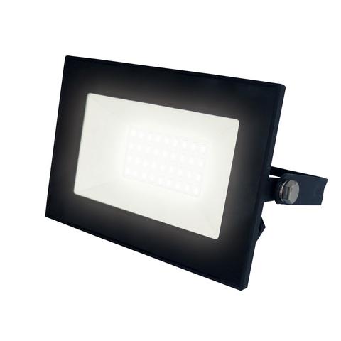 ULF-F21-30W/3000K IP65 200-250В BLACK Прожектор светодиодный. Теплый белый свет (3000К). Корпус черный. TM Uniel