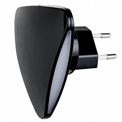 DTL-320 Треугольник/Black/Sensor Светильник-ночник. С фотосенсором (день-ночь). Черный. ТМ Uniel