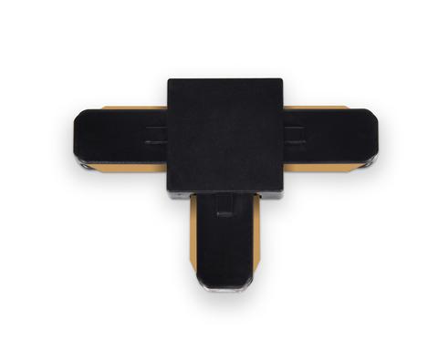 Коннектор Т-образный однофазный для соединения трековых шинопроводов GL7078 BK черный