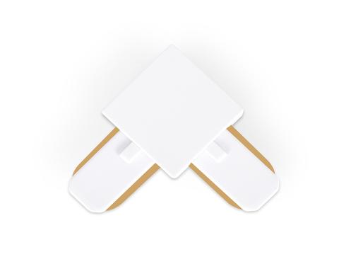 Коннектор угловой однофазный для соединения трековых шинопроводов GL7070 WH белый