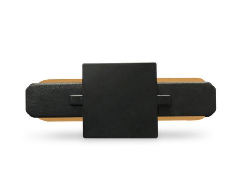 Коннектор прямой однофазный для соединения трековых шинопроводов GL7066 BK черный