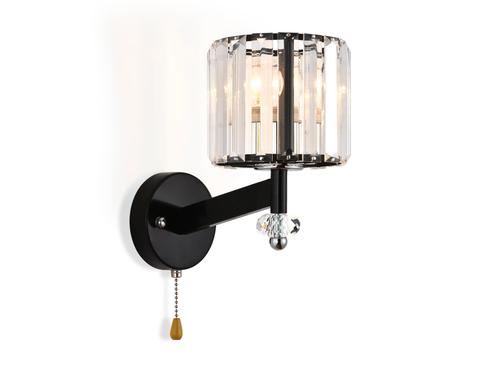 Настенный светильник с выключателем TR5897 BK/CL черный/прозрачный E14 max 40W 240*135*230