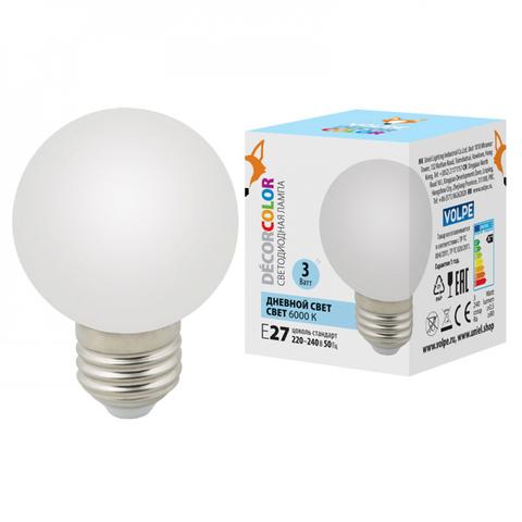 LED-G60-3W/6000K/E27/FR/С Лампа декоративная светодиодная. Форма