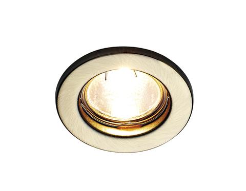 Встраиваемый точечный светильник FT9210 SB бронза MR16