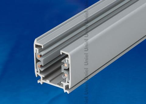 UBX-AS4 SILVER 200 POLYBAG Шинопровод осветительный, тип А. Трехфазный. Цвет — серебряный. Длина 2 м. Упаковка — полиэтиленовый пакет.