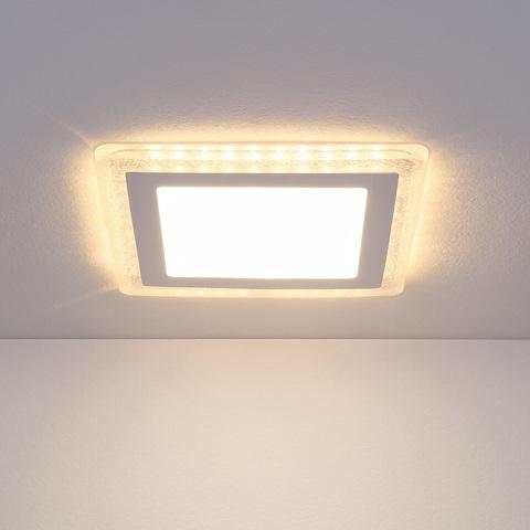 Встраиваемый светодиодный светильник DLS024 12+6W 4200K