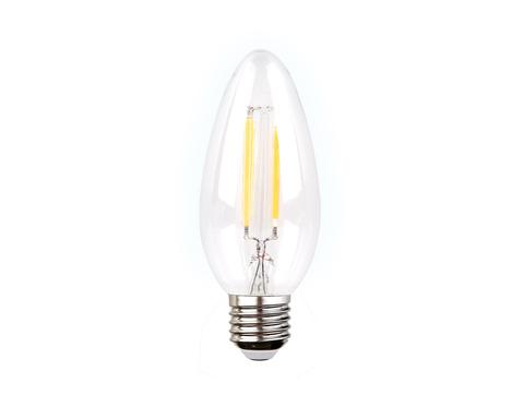Филаментная светодиодная лампа Filament LED C37-F 6W E27 4200K (60W)
