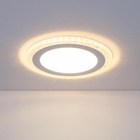 Встраиваемый светодиодный светильник DLR024 7+3W 4200K