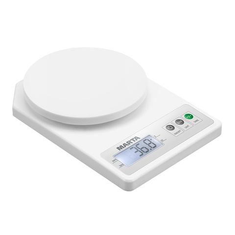 Весы кухонные сенсор MARTA MT-1637 белый жемчуг