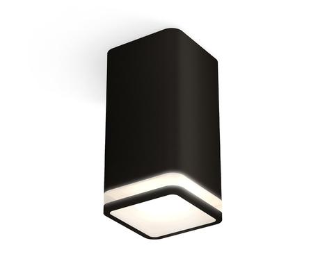 Комплект накладного светильника с акрилом XS7821020 SBK/FR черный песок/белый матовый MR16 GU5.3 (C7821, N7751)
