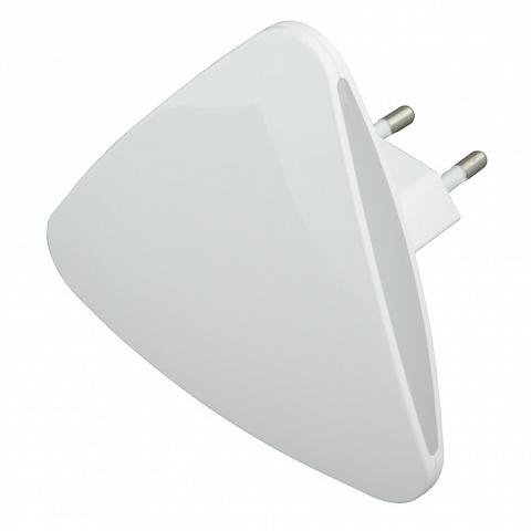 DTL-320 Треугольник/White/Sensor Светильник-ночник. С фотосенсором (день-ночь). Белый. ТМ Uniel