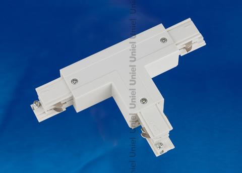 UBX-A33 WHITE 1 POLYBAG Соединитель для шинопроводов Т-образный. Правый. Внутренний. Трехфазный. Цвет — белый. Упаковка — полиэтиленовый пакет.