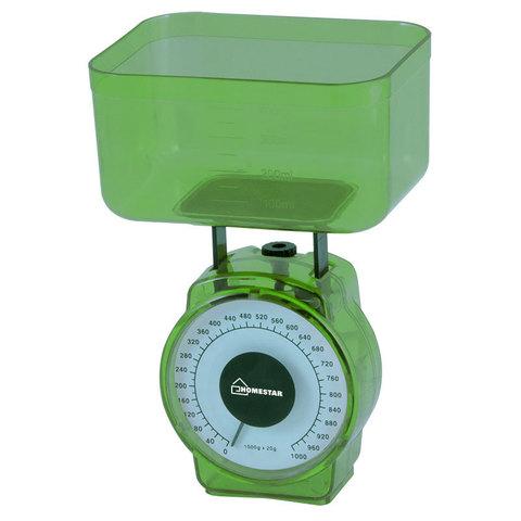 Весы кухонные механические HOMESTAR HS-3004М, 1 кг, цвет зеленый