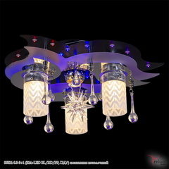 05521-0.3-3+1 (E14+LED BL/RD/PP, ПДУ) светильник потолочный