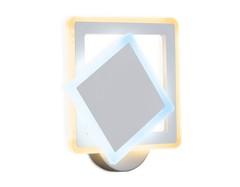 Настенный светодиодный светильник с выключателем FA565 WH/S белый/песок LED 3000K/6400K 24W 200*200*60