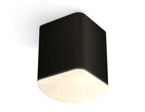 Комплект накладного светильника с акрилом XS7813022 SBK/FR черный песок/белый матовый MR16 GU5.3 (C7813, N7756)