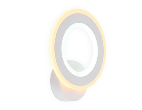 Настенный светодиодный светильник FA8812 WH белый 11W 190*220*50