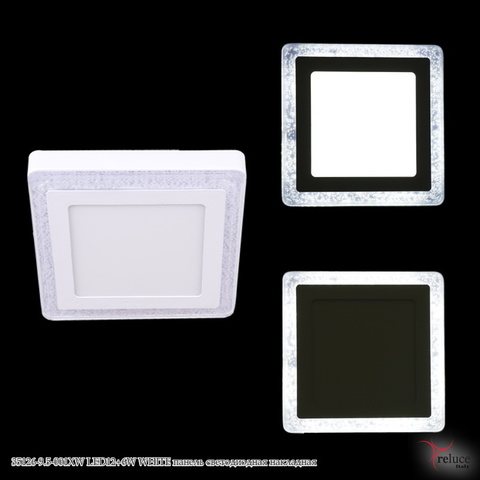 35126-9.5-001XW LED12+6W WHITE панель светодиодная накладная