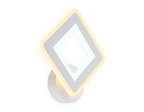 Настенный светодиодный светильник FA871 WH белый 11W 220*250*50