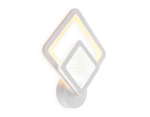 Настенный светодиодный светильник FA4284 WH белый 14W 260*300*60
