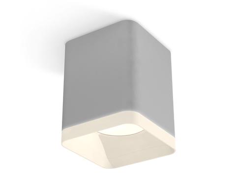 Комплект накладного светильника с акрилом XS7814010 SGR/FR серый песок/белый матовый MR16 GU5.3 (C7814, N7755)