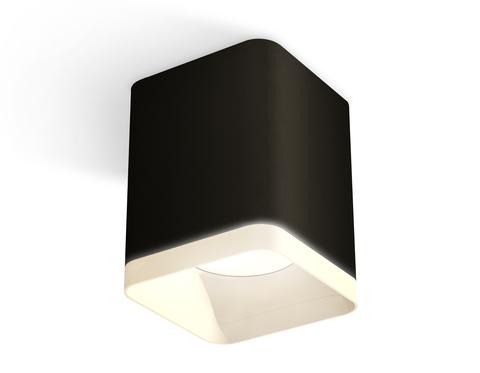 Комплект накладного светильника с акрилом XS7813021 SBK/FR черный песок/белый матовый MR16 GU5.3 (C7813, N7755)