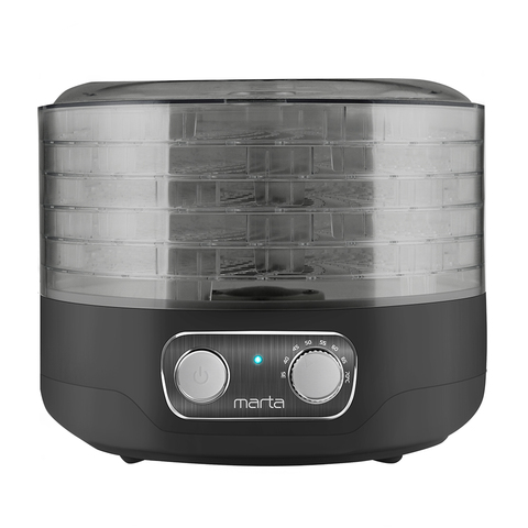 Сушилка для фруктов, овощей MARTA MFD-205PS черный жемчуг
