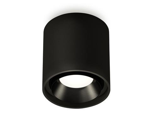 Комплект накладного светильника XS7723002 SBK/PBK черный песок/черный полированный MR16 GU5.3 (C7723, N7031)