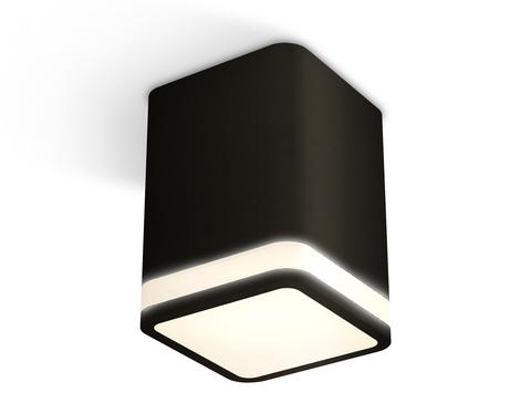 Комплект накладного светильника с акрилом XS7813020 SBK/FR черный песок/белый матовый MR16 GU5.3 (C7813, N7751)