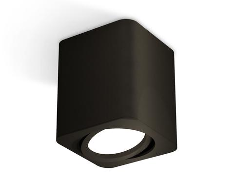 Комплект накладного поворотного светильника XS7813010 SBK черный песок MR16 GU5.3 (C7813, N7711)