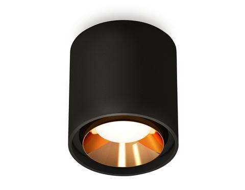 Комплект накладного светильника XS7723004 SBK/PYG черный песок/золото желтое полированное MR16 GU5.3 (C7723, N7034)