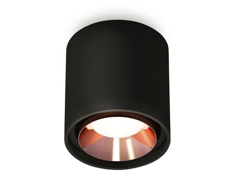 Комплект накладного светильника XS7723005 SBK/PPG черный песок/золото розовое полированное MR16 GU5.3 (C7723, N7035)