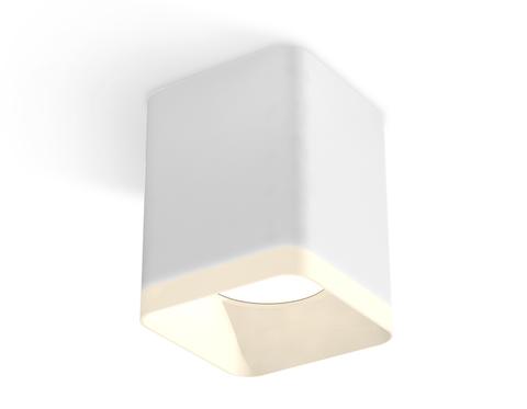 Комплект накладного светильника с акрилом XS7812021 SWH/FR белый песок/белый матовый MR16 GU5.3 (C7812, N7755)