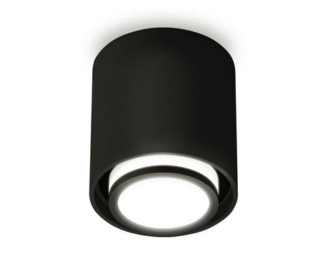 Комплект накладного светильника с акрилом XS7723015 SBK/FR черный песок/белый матовый MR16 GU5.3 (C7723, N7165)