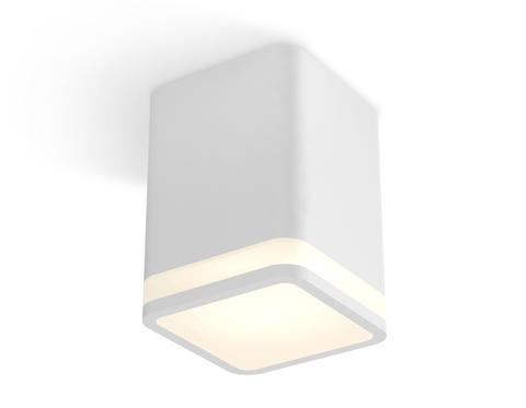 Комплект накладного светильника с акрилом XS7812020 SWH/FR белый песок/белый матовый MR16 GU5.3 (C7812, N7750)