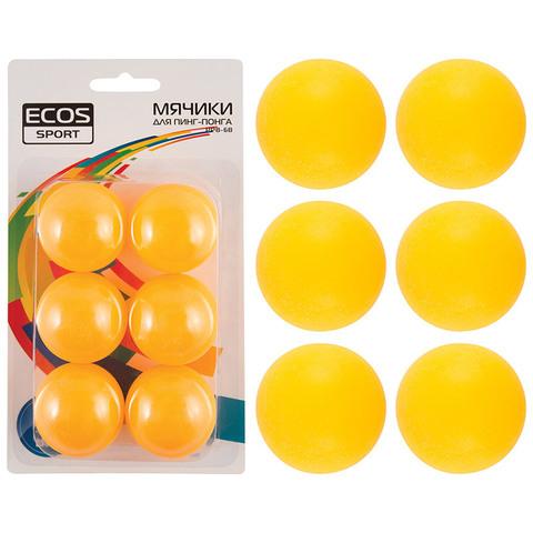 Мячики  для пинг-понга  (6 шт.) PPB-6B, материал: полипропилен,  Упаковка: блистер