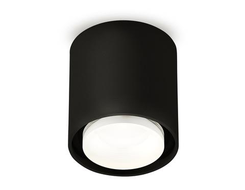 Комплект накладного светильника с акрилом XS7723016 SBK/FR черный песок/белый матовый MR16 GU5.3 (C7723, N7121)