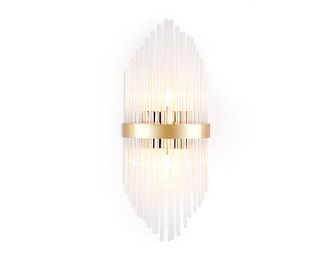 Настенный светильник с хрусталем TR5372/2 GD/CL золото/прозрачный G9/2 max 40W 500*200*100