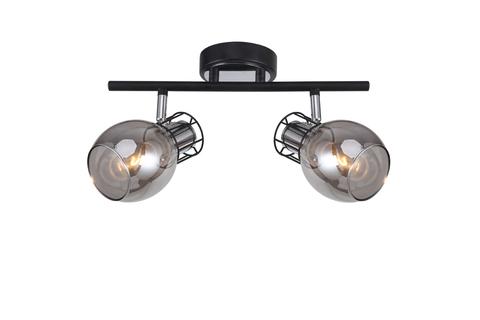 Настенный светильник Escada 1136/2A E14*40W Black/ Chrome