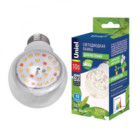 LED-A60-10W/SPFB/E27/CL PLP30WH Лампа светодиодная для растений. Форма