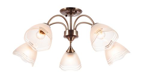 Потолочный светильник Escada 1101/5P E27*60W Brass