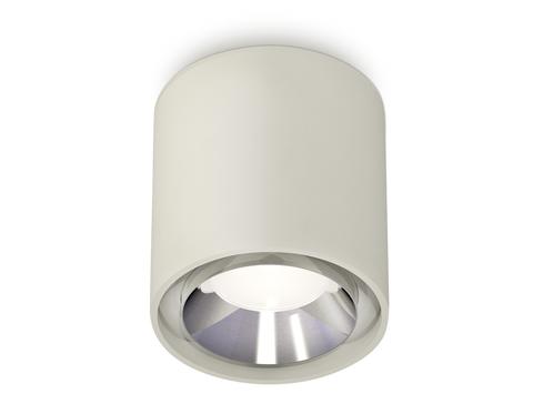 Комплект накладного светильника XS7724003 SGR/PSL серый песок/серебро полированное MR16 GU5.3 (C7724, N7032)