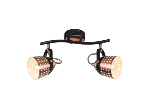 Настенный светильник Escada 1138/2A E14*40W Black/Copper