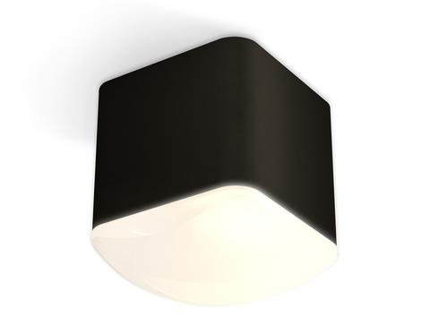 Комплект накладного светильника с акрилом XS7806041 SBK/FR черный песок/белый матовый MR16 GU5.3 (C7806, N7756)