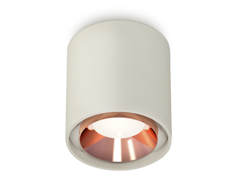 Комплект накладного светильника XS7724005 SGR/PPG серый песок/золото розовое полированное MR16 GU5.3 (C7724, N7035)