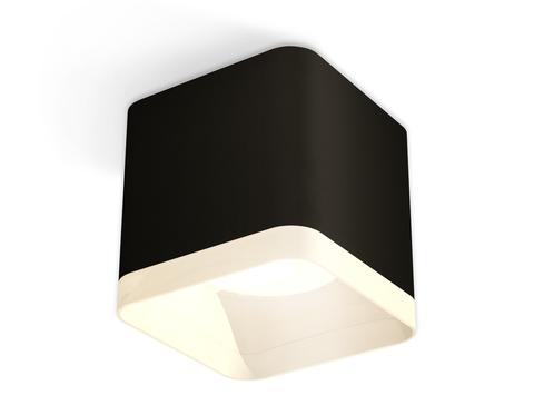 Комплект накладного светильника с акрилом XS7806040 SBK/FR черный песок/белый матовый MR16 GU5.3 (C7806, N7755)