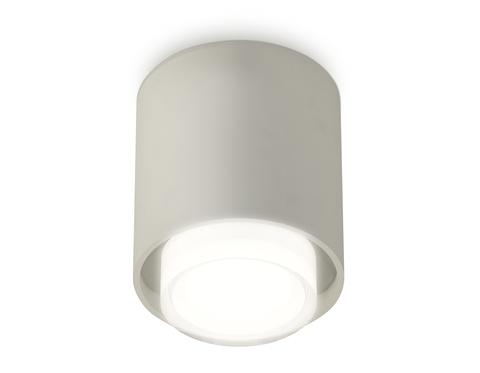 Комплект накладного светильника с акрилом XS7724015 SGR/FR серый песок/белый матовый MR16 GU5.3 (C7724, N7165)